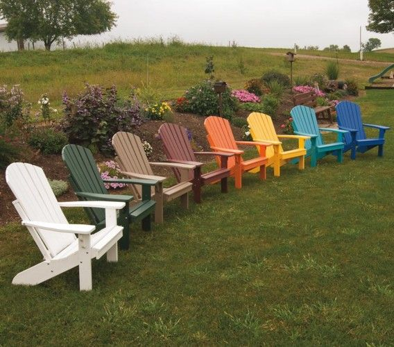 Good Outdoor Furniture   Poly Resin Adirondack Chairs