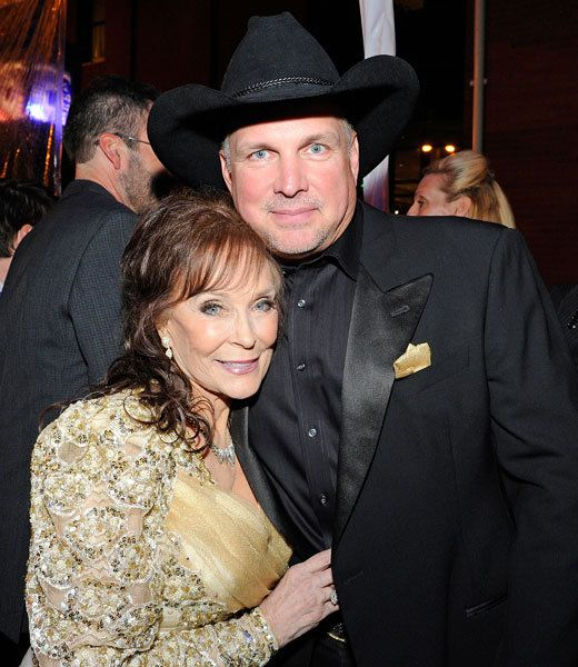 Loretta Lynn and Garth Brooks at the Grammy Salute to Country Music at the Ryman Auditorium on Oct. 12, 2010, in Nashville