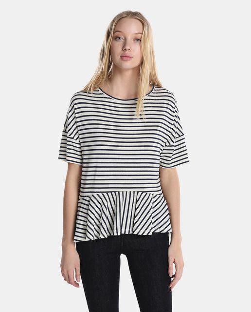 Rayas Camisetas Con De Jeans Mujer Tommy Preplum Camiseta wgIqfvTx
