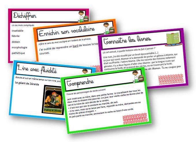 Cartes d'autonomie pour l'atelier DECLIC  déchiffrer syllabes, mots complexes, inférer ...