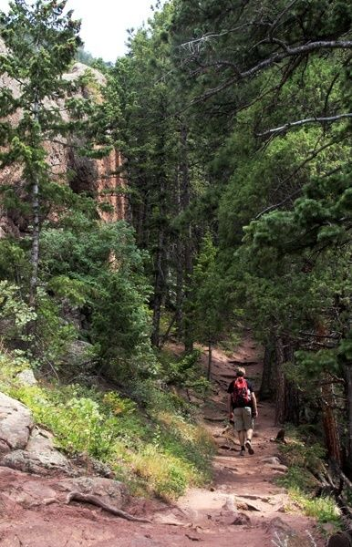 My fave hike in Boulder, Colorado - between the Flatirons