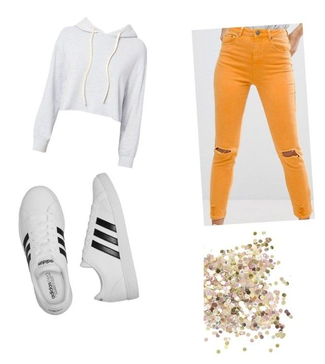 """""""Untitled #21"""" by alexandraflorentina672003 on Polyvore featuring ASOS, adidas, Monrow and Topshop"""