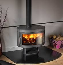 freestanding wood burning fireplace - Google Search