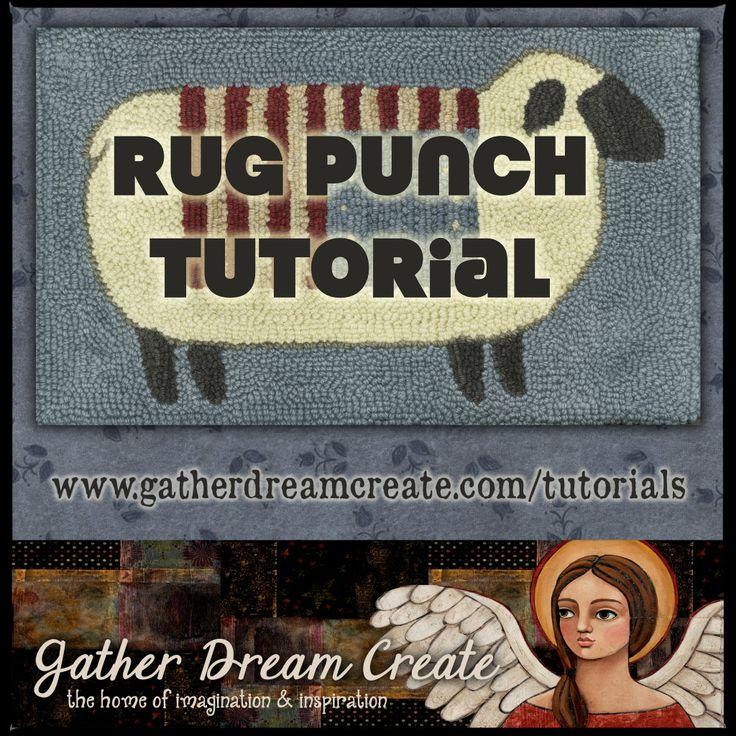 Learn How To Make A Punch Rug With Wool Yarn From Start To