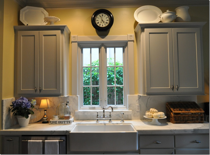 Good Colors For Kitchens Adorable Of Yellow Kitchen Cabinets with Gray Walls Image