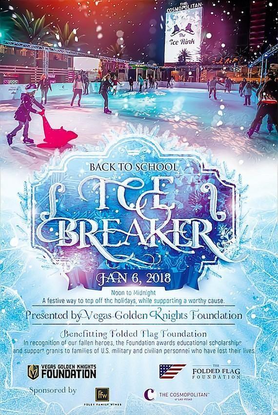 Vegas Golden Knights Foundation Ice Skating Benefit for Folded Flag Foundation