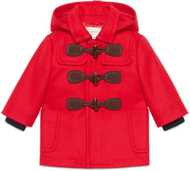 Baby wool cashmere montgomery coat
