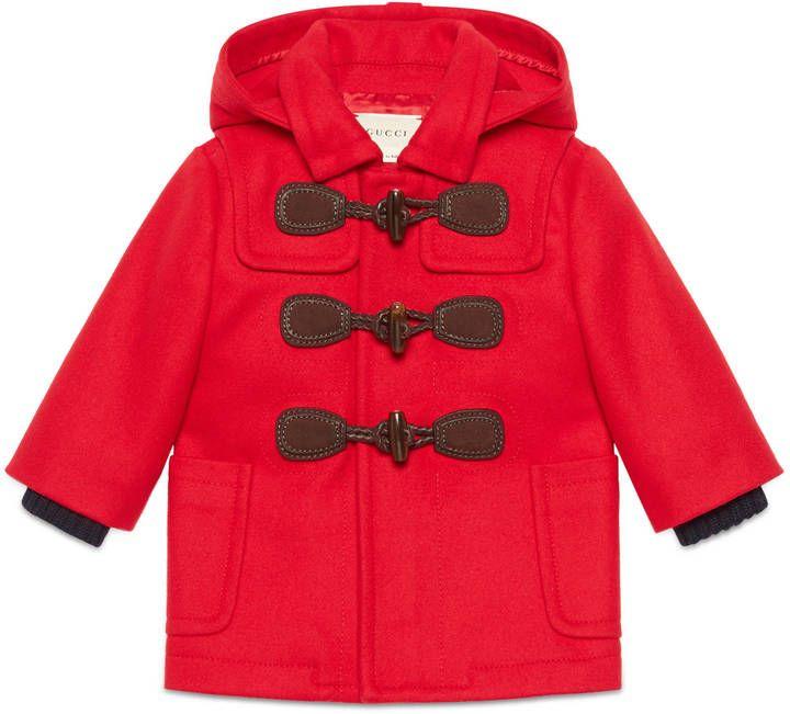 Baby wool cashmere montgomery coat