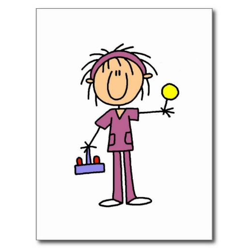 Stick Figure Nurse With Lollipop Tshirts and Gifts Postcard Click on photo to purchase. Check out all current coupon offers and save! http://www.zazzle.com/coupons?rf=238785193994622463&tc=pin