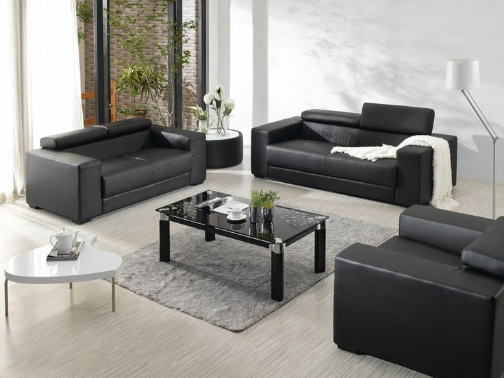divani casa modern bonded leather sofa set