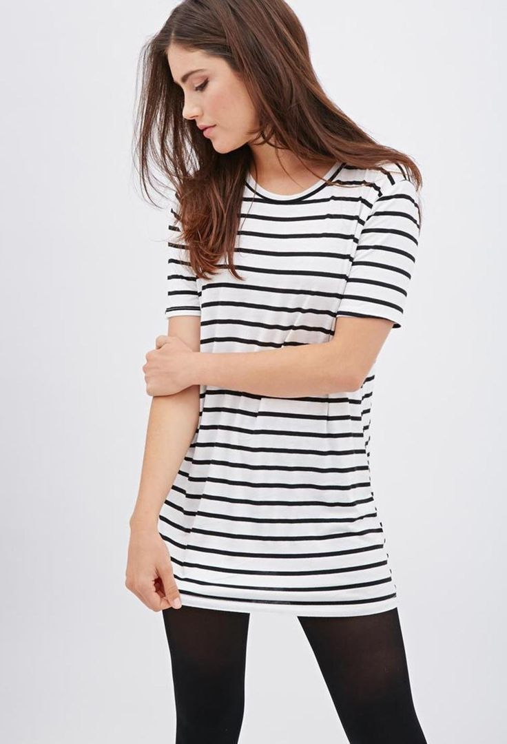 white-slash-black-striped-longline-