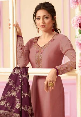 e03b765de3 Lt Nitya 121 Satin Georgette with Embroidery Sawar Suits 2109 ...
