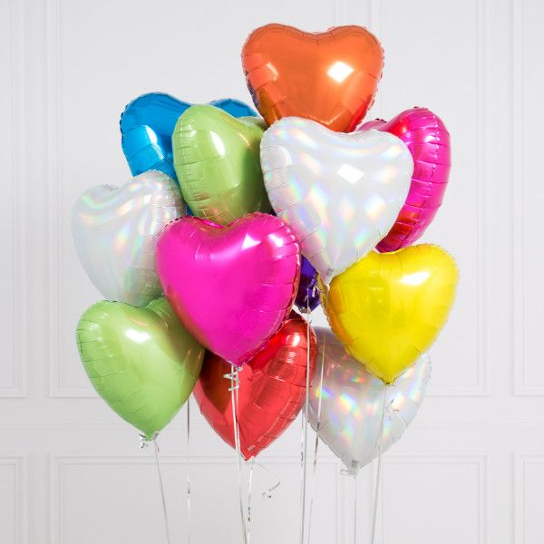Shop Unicorn Hearts Inflated Balloons For Your Next Unicorn Party