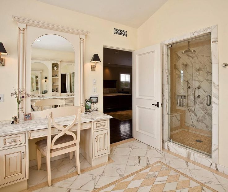 A beautiful vanity and large walk in shower at #632eleventh in #SantaMonica help to make the #masterbath a serene retreat. This #luxury bathroom also features a large soaking tub.   To learn more about this gorgeous Mediterranean style home please visit the #linkinbio | cindyambuehl.luxury | #luxuryrealestate #realestate #losangelesrealestate  #luxurybathroom #mastersuite #bathroomdesignideas #northofmontana #luxuryhome #luxuryrealtor #theagencyre