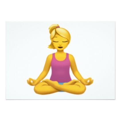 Woman in Lotus Position - Emoji Card - invitations custom unique diy personalize occasions