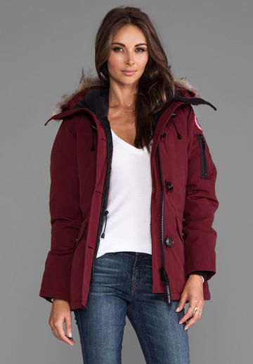 CANADA GOOSE Montebello Parka in Niagara Grape at Revolve Clothing