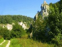 Rock climbing in the Polish Jura