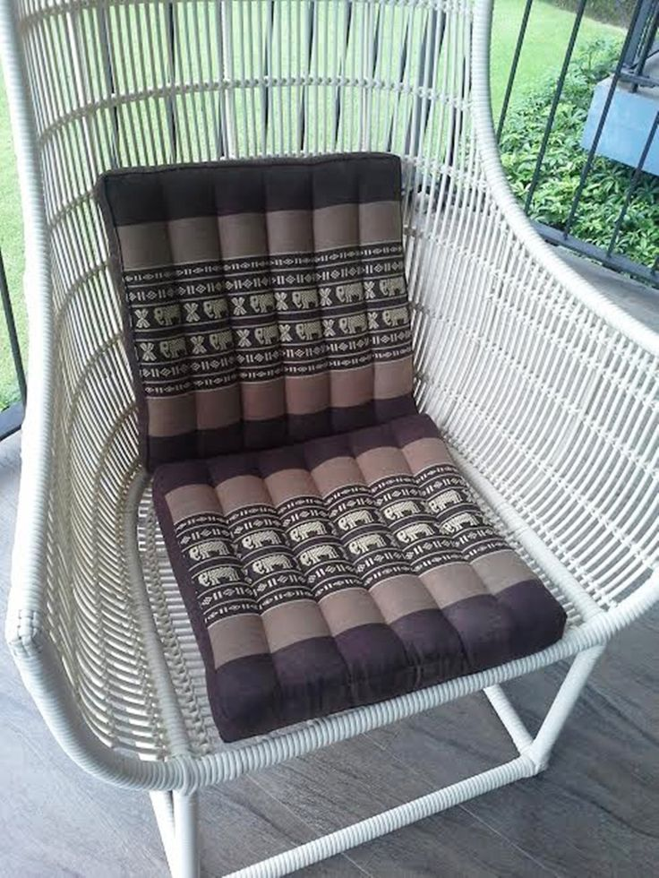 Thai Traditional Elephant Style Chair Seat Pad Cushion Kapok 100% Filled Handmade by ThaiBoon on Etsy