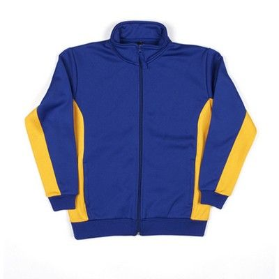 Kiddies Designed Contrast Panel Team Sports Jacket Min 25 - 80/20 Poly Cotton, Fleecy Lining, Contrast Panel along Sides and Under Sleeves, Zip Collar Down, Elastic Cuffs and Hem, Two Front Side Pockets,330grm Fabric. http://www.promosxchange.com.au/kiddies-designed-contrast-panel-team-sports-jacket/p-5503.html
