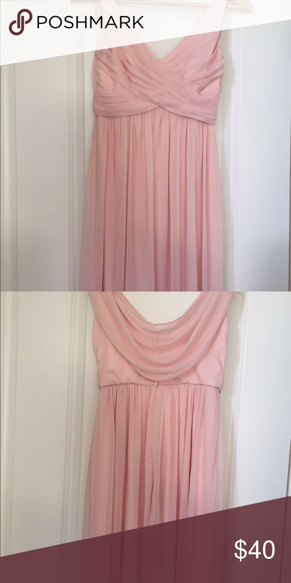 Davids bridal pale pink short dress Worn once as a bridesmaid. Drapes in the back. Very cute and comfortable davids bridal Dresses