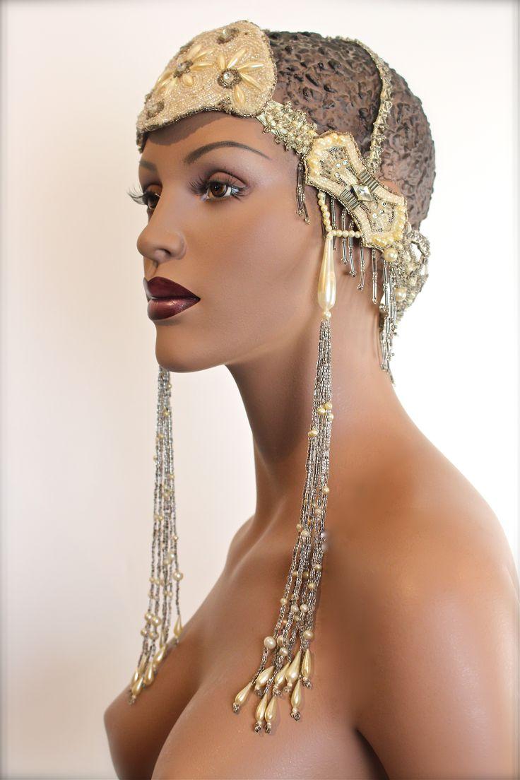 Regal 1920's Art Nouveau Bridal Headdress #wedding #Gatsby #style