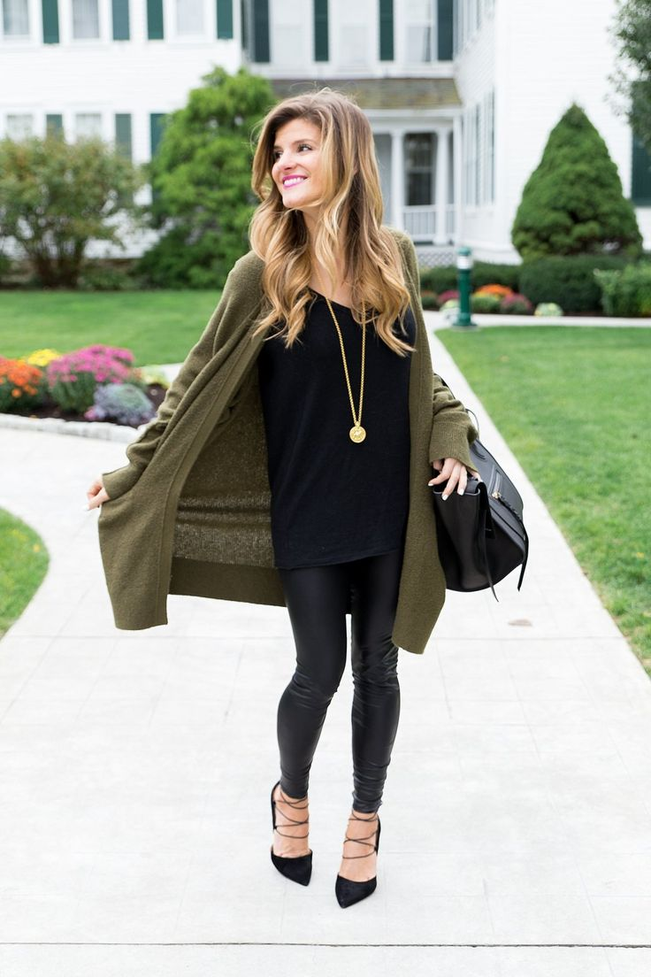 Saturday Night in Manchester, VT. All Black OutfitBlack ... - Best 25+ Leather Leggings Outfit Ideas On Pinterest Leather