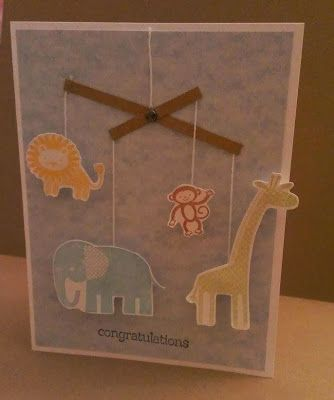 Stampin' Up Zoo Babies Card