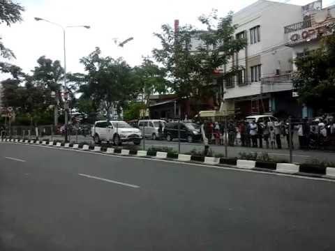 Jokowi makan siang di balikpapan
