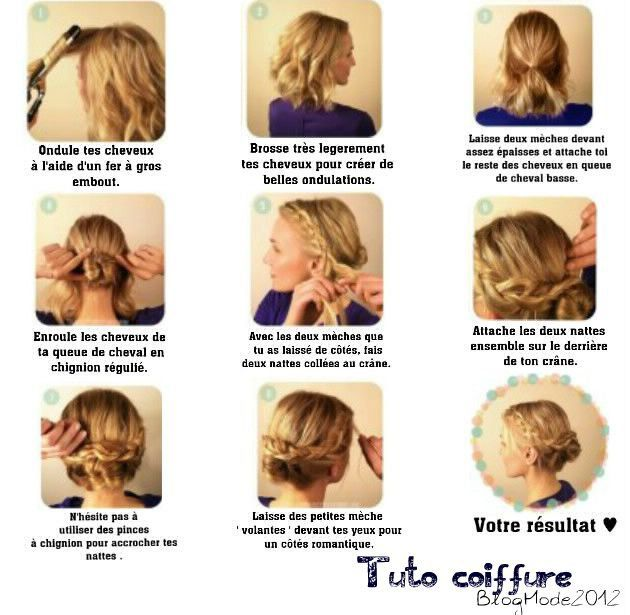 Coiffure Pour Cheveux Court Attache