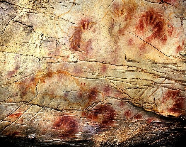 World's oldest cave paintings discovered in Spain - and they may have been painted by Neanderthals    New tests show that crude Spanish cave paintings of a red sphere and handprints are the oldest in the world    Read more: http://www.nydailynews.com/news/world/world-oldest-cave-paintings-discovered-spain-painted-neandrethals-article-1.1096034#ixzz1xzcaVJgu