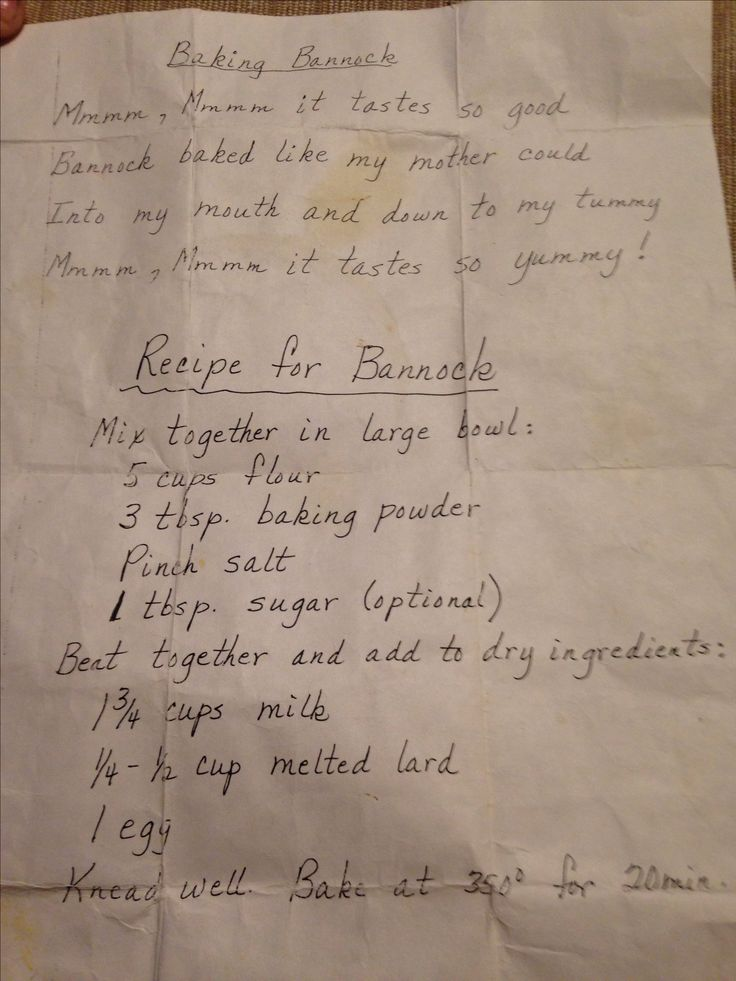 Baked Bannock Recipe. Best one