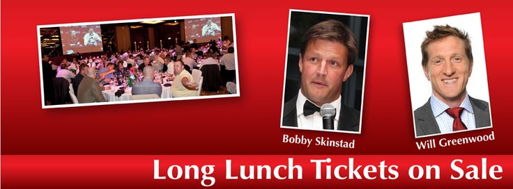 Two legends of world rugby will be the star attractions at this year's Emirates Airline rugby long lunch, at the Intercontinental Event Centre, DFC, on September 19. South Africa's BOBBY SKINSTAD and England's WILL GREENWOOD will be the event's guest speakers. The two World Cup winners both established among the top speakers on the international after-dinner circuit, a superb occasion is guaranteed.