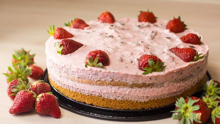 Schnelle Erdbeer-Sahne-Torte