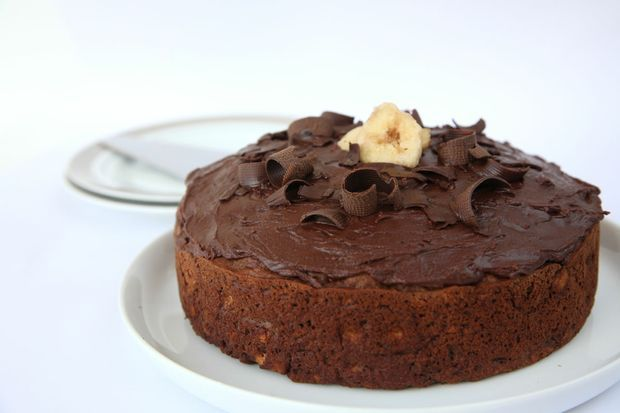 Annette Sym's delicious chocolate banana cake.