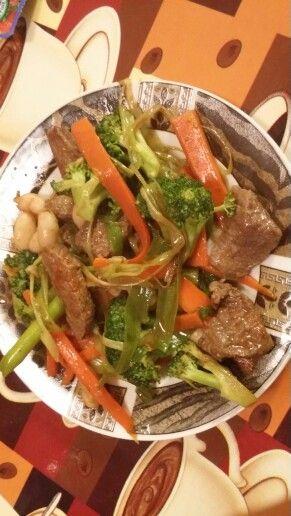 Beef n bean stir fry