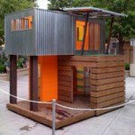 piecehomes off the grid - a 320 Square Foot Green Home. A small factory-built modular two-story home.