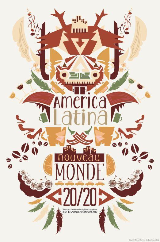 America Latina, un nouveau monde; final.  #affiche#illustration#typography#animals
