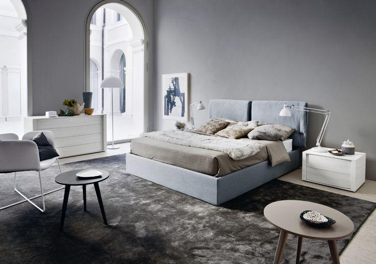 Montgomery ágy + Trió dohányzóasztal | Montgomery Bed + Trio coffee table  Gyártó | Manufacturer:  Novamobili  http://www.novamobili.it