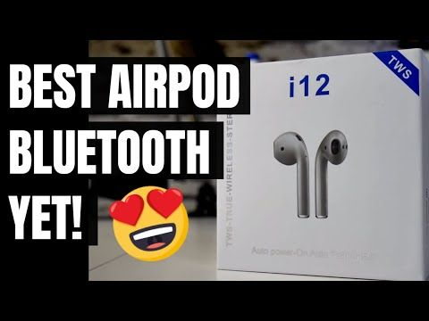 I12 TWS Blue Label Airpods BEST Bluetooth yet - YouTube | EarPods