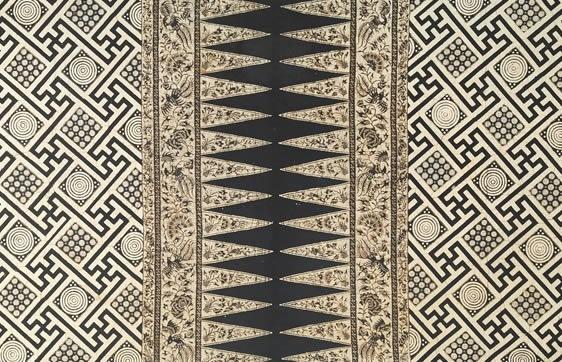 superb graphic batik   java indonesia   wereldmuseum rotterdam