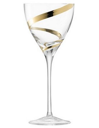 DREAMING - 'Malika Grand' Wine Goblet 400ml Gold Spiral Set of 2
