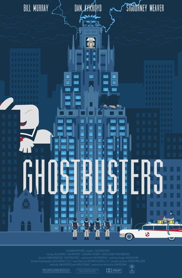 Ghostbusters Poster Original Cinema Art : Poster Interpretations of Cinema Art…