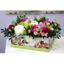 """Коробочка с цветами""""Очарование"""""""
