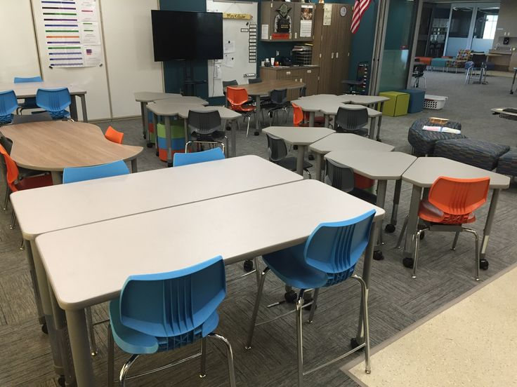 Smith System Interchange Tables, Flavors Seating, Oodle Seating. #classroom #classroomdesign