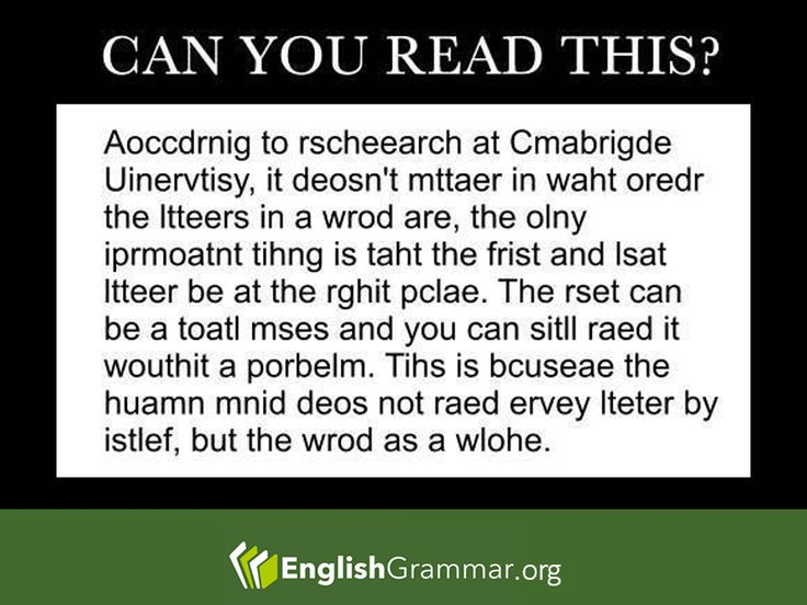 Reading Riddle and Quiz: Can you read this? - Posted on English Grammar