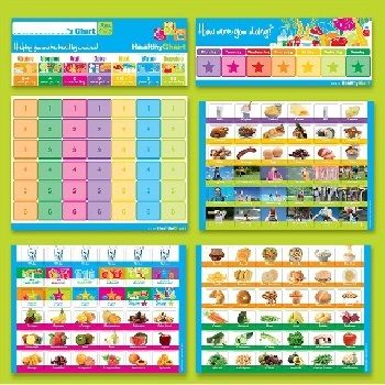 Healthy Chart Ages 4-7 Years $30.00 #sweetcreations #baby #toddlers #kids #feeding #feedme
