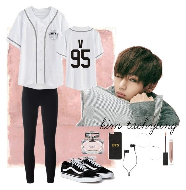 """""""V {BTS}"""" by larissaymd on Polyvore featuring Rothko, adidas Originals, Burberry, Master & Dynamic and Gucci"""