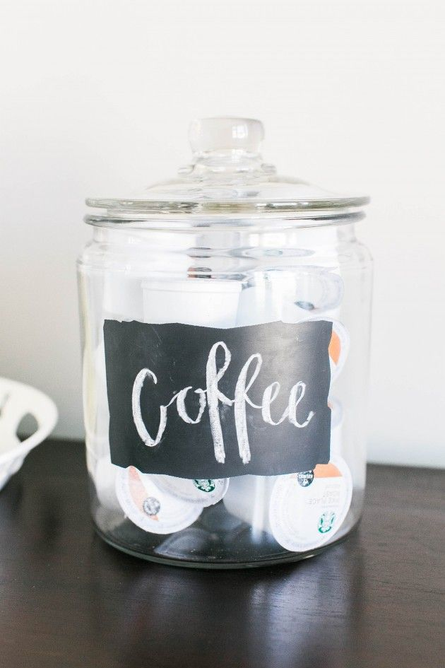 Coffee Chalkboard Label Anchor Jar.  View More: http://jordanmaunder.pass.us/small-things