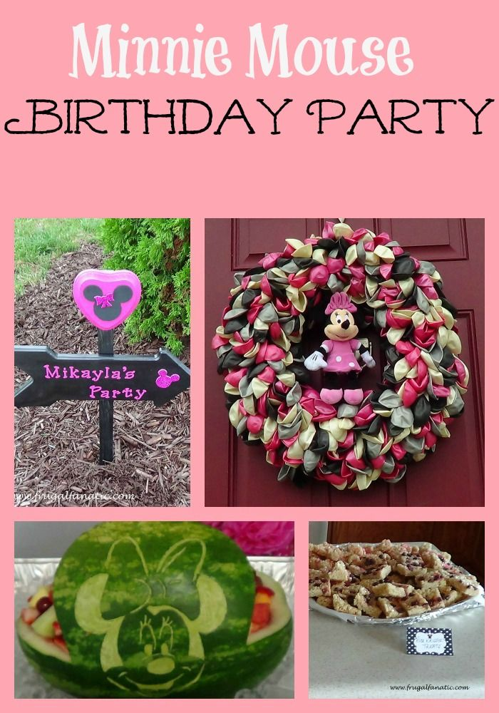 For Ava's bday. I thought the wreath was cute. Minnie Mouse Birthday Party Ideas