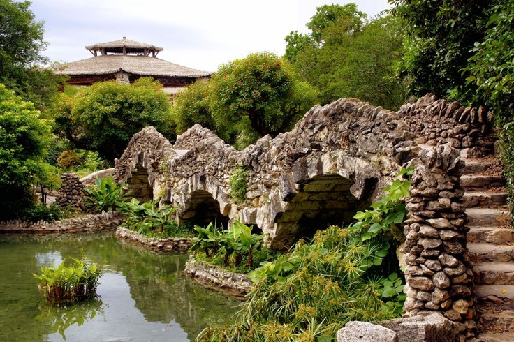 The Japanese Tea Garden in Brackenridge Park offers a serene escape with walkways, stone-arch bridges, an island, a Japanese pagoda and ponds brimming with colorful koi. Photo Credit: Roxana M.